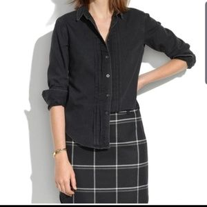 Madewell Black Denim Button Down Shirt